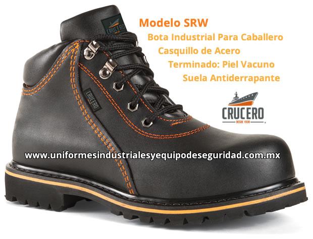 dafd17ab Botas Industriales Crucero Modelo SRW - Mayoreo y Menudeo - Casquillo de  Acero - Suela Antiderrapante